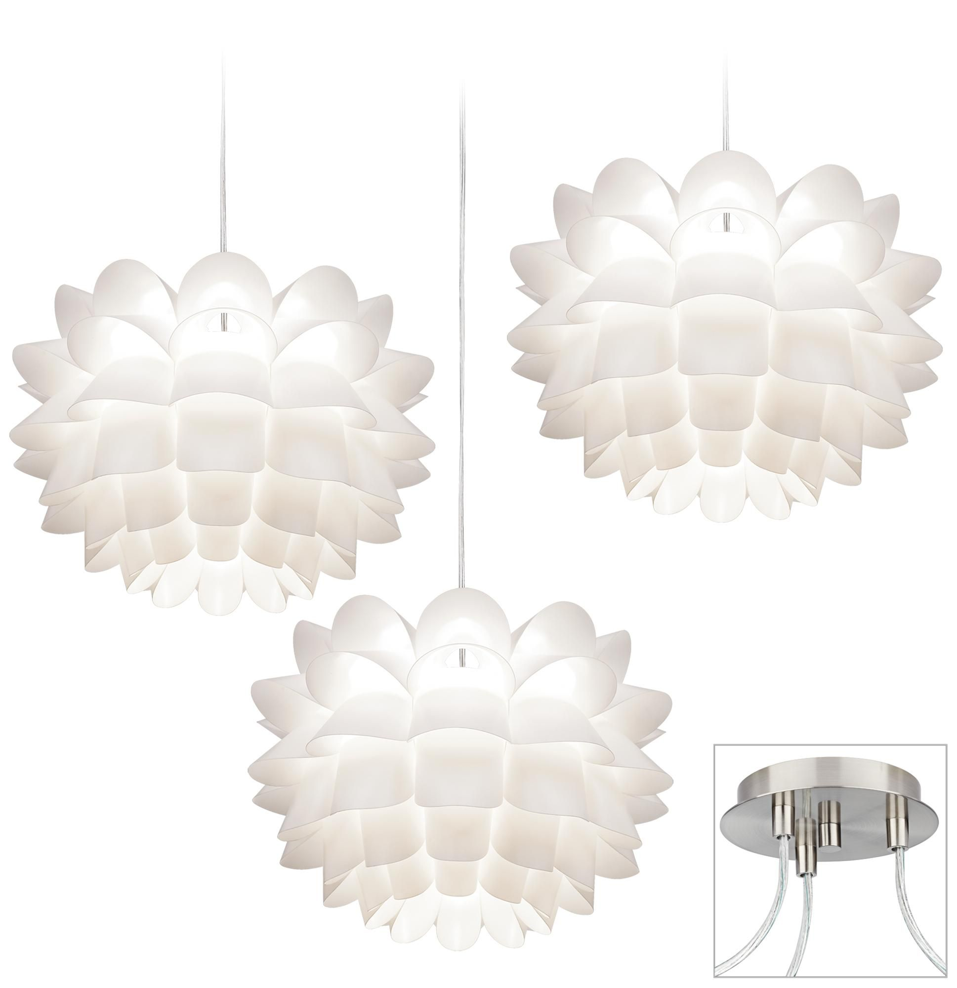 Fresh how to swag a chandelier pictures home design white flower brushed nickel triple swag chandelier style x9880 arubaitofo Image collections