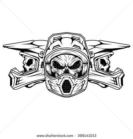 Skull Motocross And Mountain Bike Helmet Legging Shirts Tshirts