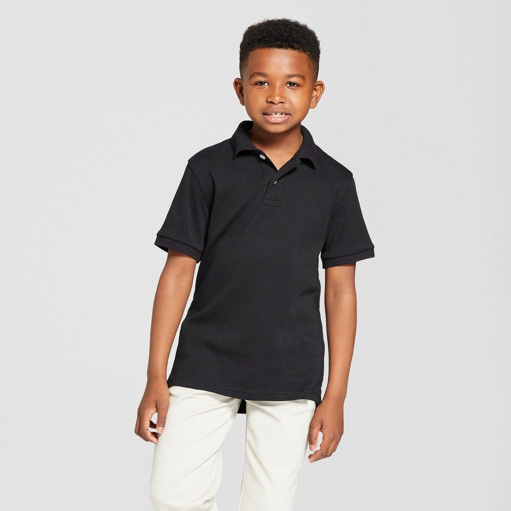 4eaf7cf0 The Short-Sleeve Interlock Uniform Polo Shirt from Cat and Jack is a  stylish and