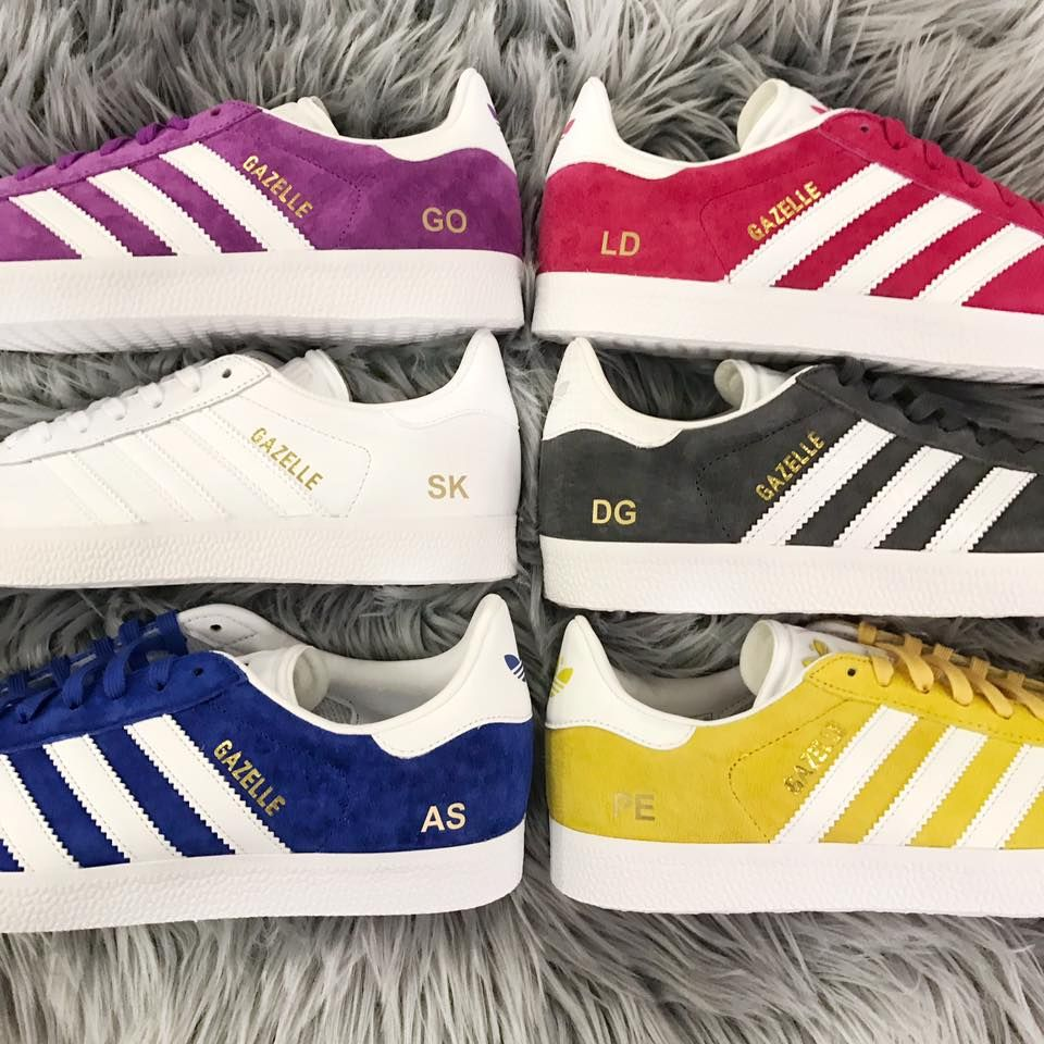 Personalise a pair of adidas Originals Gazelle now with your initials! f160374270b24