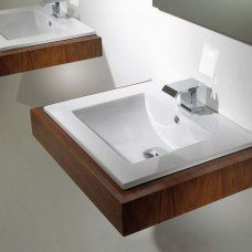 Semi Recessed Bathroom Basin
