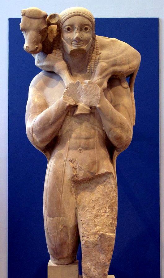 O Kriosphoro Moscóforo ( ou portador do bezerro, Μοσχοφόρος), é uma escultura tipo Kouros (estátua de homem jovem do período Arcaico) que data do ano de 570 a.C. e que foi esculpida por algum artista das oficinas de Ática, região da Grécia Antiga, sendo considerada como uma das obras principais do Período Arcaico grego. A escultura foi achada entre as ruínas de Acrópolis, em Atenas. Foi uma oferenda dedicada por Rhombos, filho de Pales. A peça está no Museu de Acropolis, em Atenas. Mede 1,65…