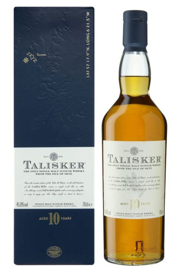Talisker 10 Year Old Island Malt Whisky Single Malt Malt