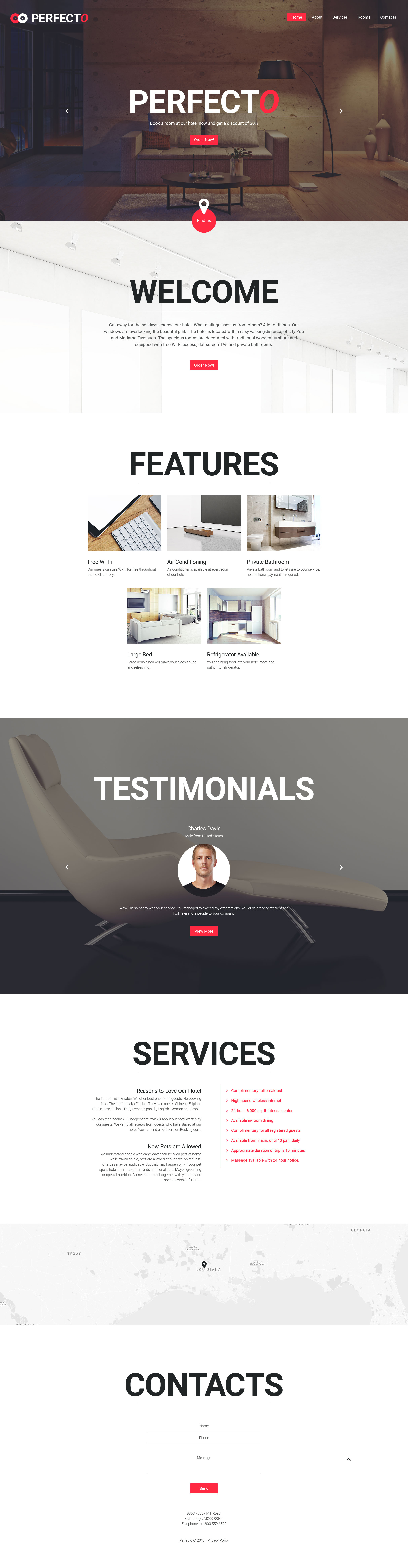 Perfecto Website Template | Template and Sticky navigation
