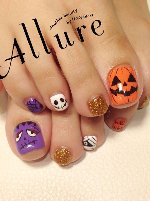 Toe nail art · Halloween toenails - Halloween Toenails Trendy Nails Pinterest Pedicures, Pedicure
