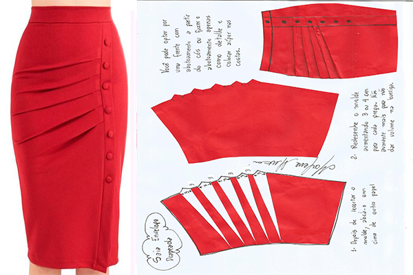 gama completa de especificaciones hermoso estilo Venta caliente genuino moldes-para-hacer-faldas-pegadas-para-dama-4 | patronaje ...