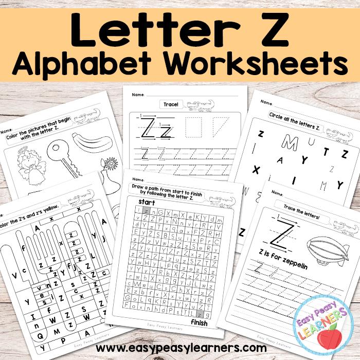 Letter Z Worksheets Alphabet Series in 2020 Letter d