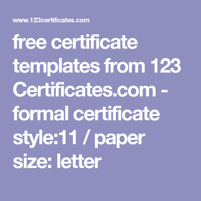 Free certificate templates from 123 certificates formal free certificate templates from 123 certificates formal certificate style11 paper yadclub Gallery