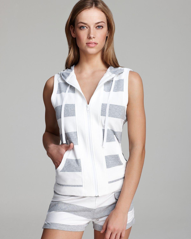 DKNY Sporting Colors Sleeveless Hoodie | Bloomingdale's