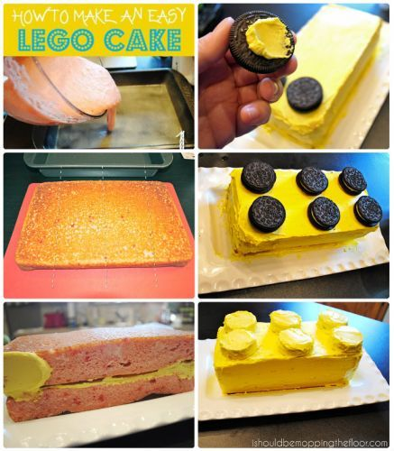 Get The Recipe For This Lego Cake Here Dip Oreos In Colored