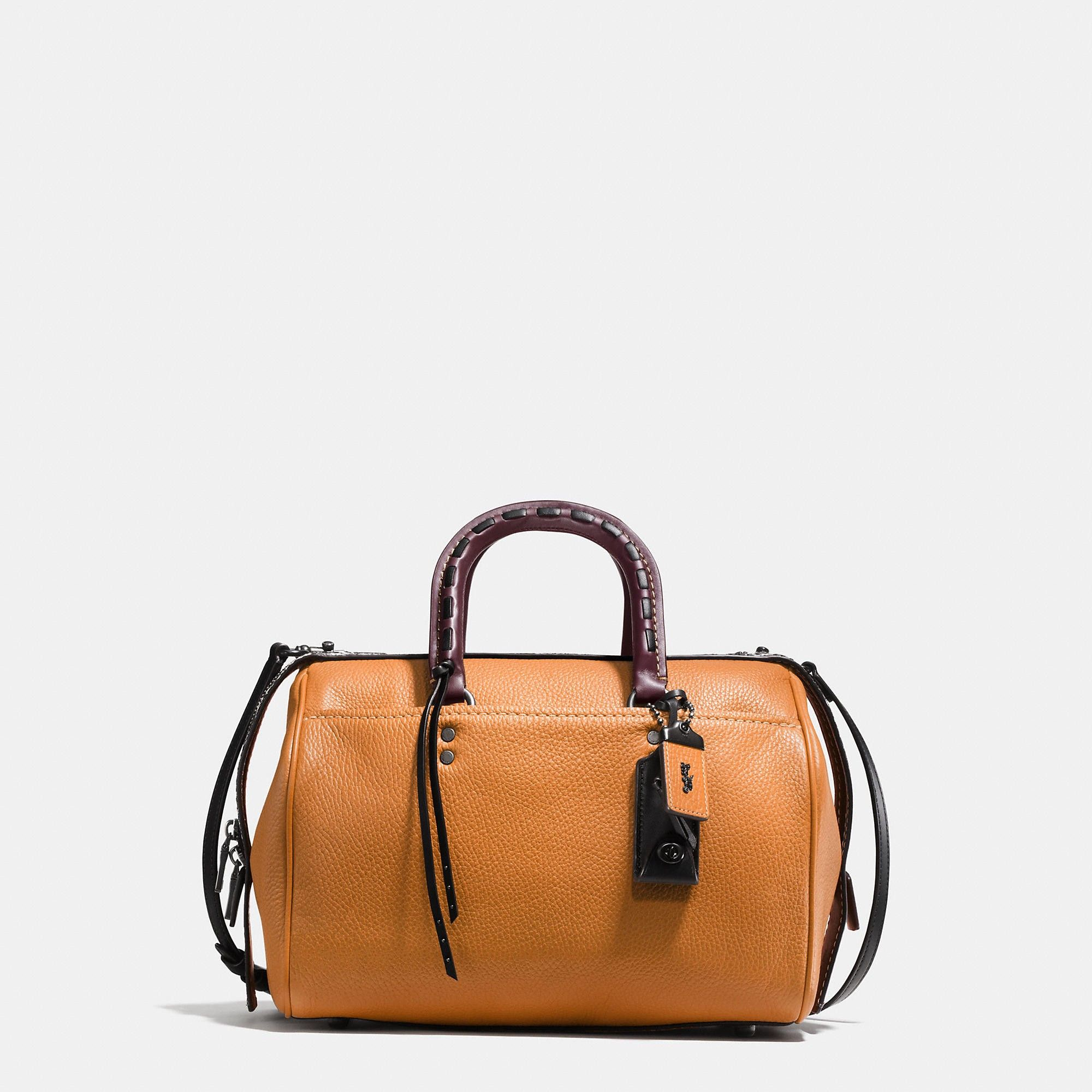 4b8a3ca609c COACH Rogue Satchel In Glovetanned Pebble Leather With Colorblock Snake  Detail.  coach  bags  shoulder bags  hand bags  lining  satchel  suede