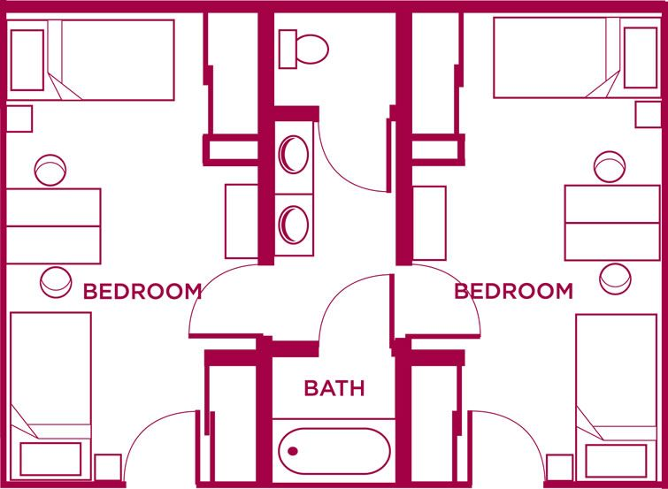 Better Floor Plan For Girls Sharing A Bathroom Alex Jones Medeiros