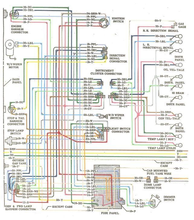 1963 Chevy C 10 Wiring Diagram