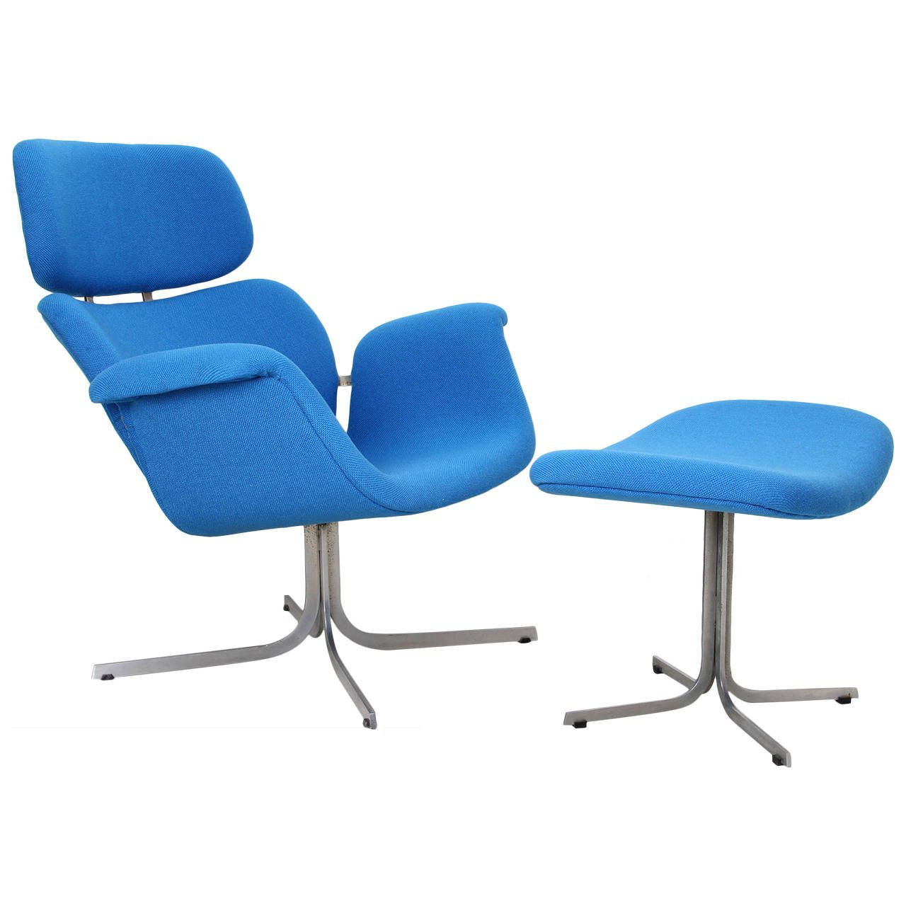 Artifort Big Tulip Fauteuil.1965 Big Tulip Lounge Chair With Ottoman By Pierre Paulin
