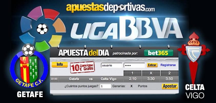 Hoy, en la Apuesta del Día os invitamos a apostar por el duelo Getafe vs. Celta de Vigo, tal vez muchos ya estéis cerca de conseguir los 100 puntos y los 10 euros para jugar en Bet365, ¡a por la oportunidad! #apuestadeldia