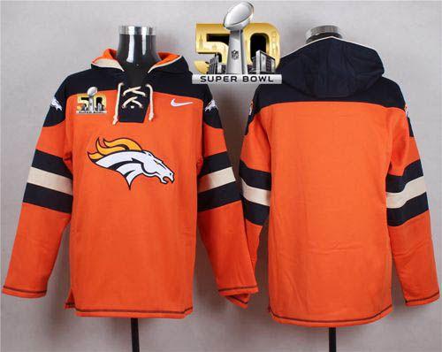 f7548b46b Nike Broncos Blank Orange Super Bowl 50 Player Pullover NFL Hoodie ...