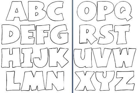 Moldes de letras del abecedario grandes para imprimir - Imagui ...