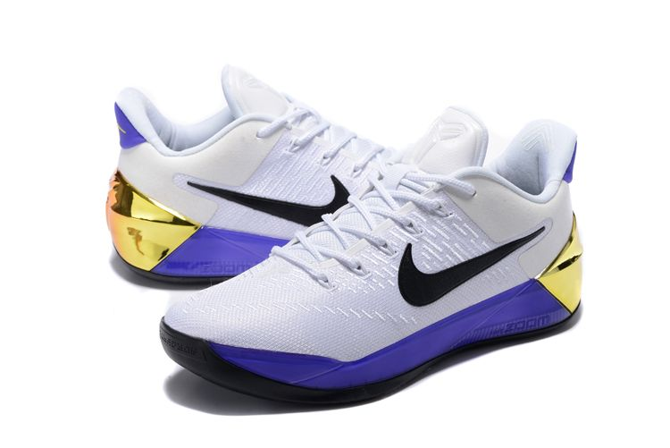 "6156c4ce2865 2018 Nike Kobe A.D. ""81 Points"" White Purple-Black-Metallic Gold Free  Shipping"