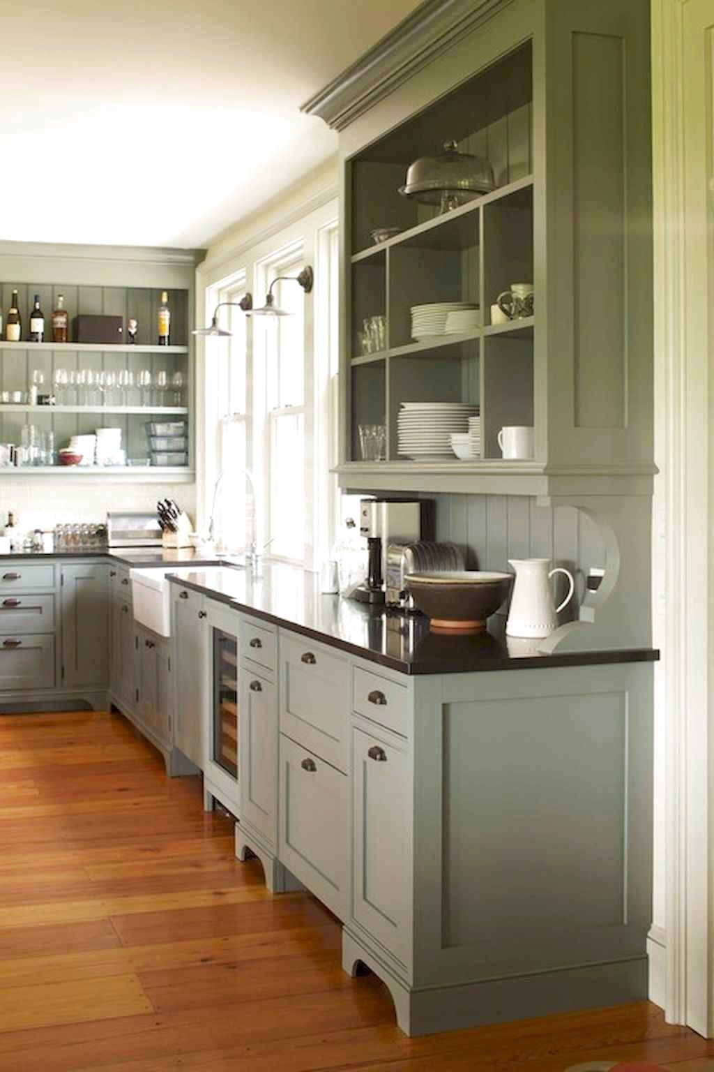 ✔77 Favourite Farmhouse Kitchen Cabinet Design Ideas #Farmhouse #KitchenCabinet #farmhousekitchencolors