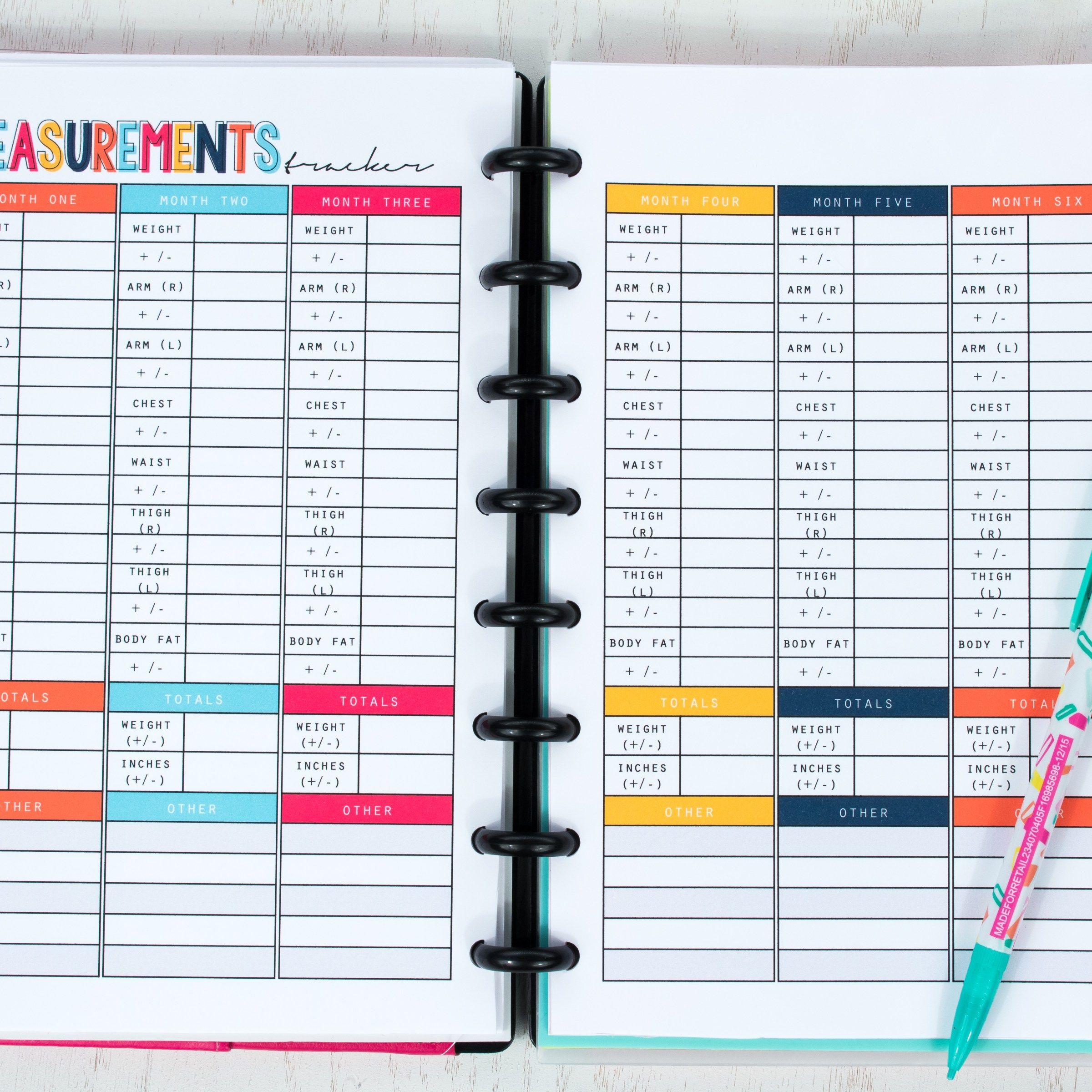 Smart Fitness Planner Printable