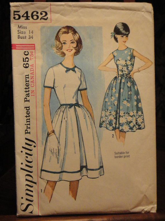 Simplicity Vintage Sewing Pattern - Pin up One Piece Dress - 1964 ...