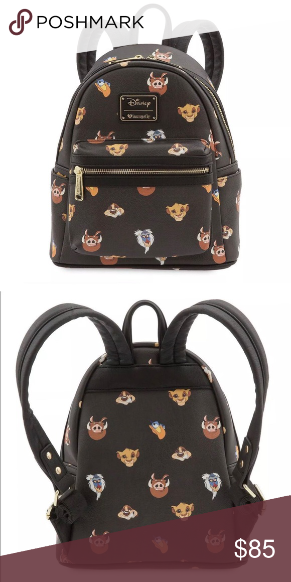 ac77af6b38 Lion King Loungefly Mini Backpack Have no worries with this adorable mini  backpack from Loungefly! Featuring the faces of our beloved characters from  The ...