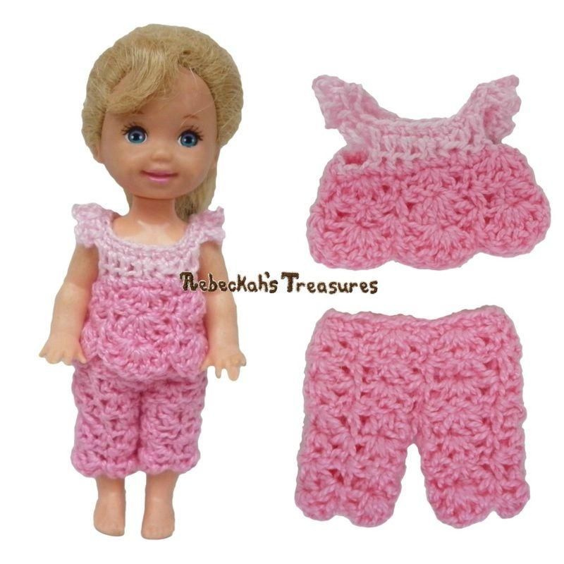 Dressy Top 6 + Capris 8 ~ Pretty in Pink Free Crochet Pattern for ...