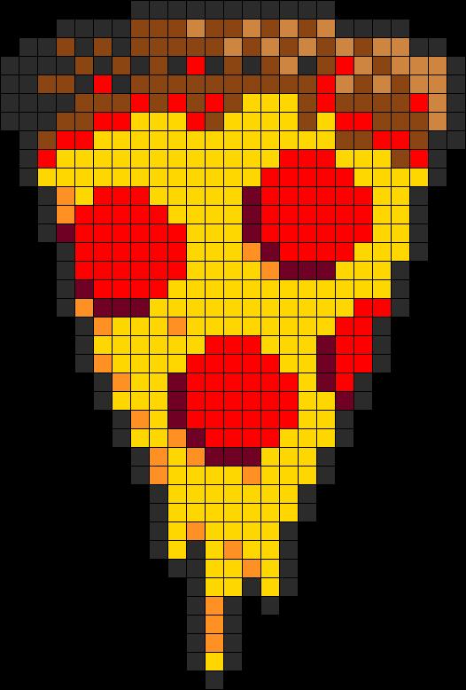 Pizza Perler Bead Pattern Bead Sprite Pixel Art Pattern Pixel Art Grid Perler Bead Art