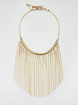 So #boho - Michael Kors Fringe Bib Necklace #michaelkors