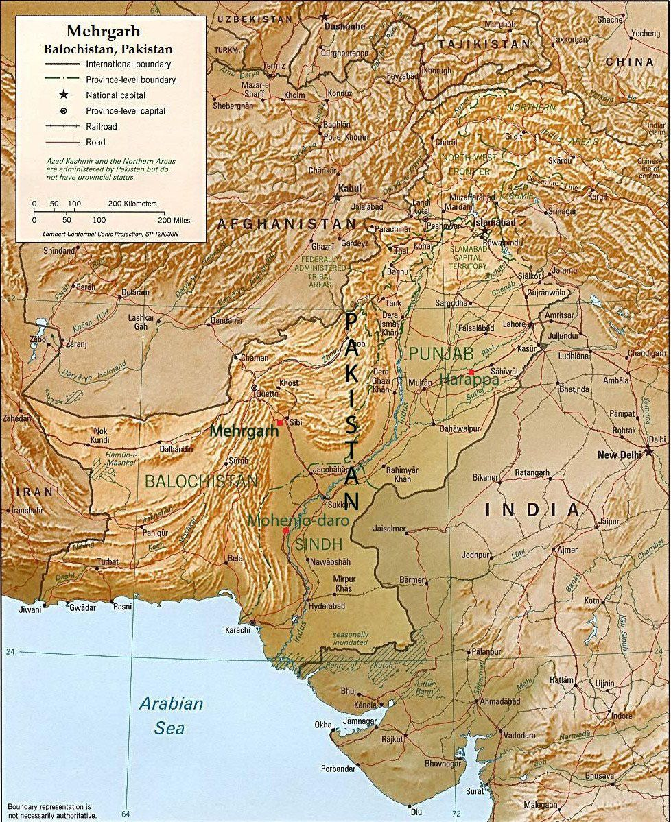 map of ancient mehrgarh west of the indus river valley in  map of ancient mehrgarh west of the indus river valley in balochistan