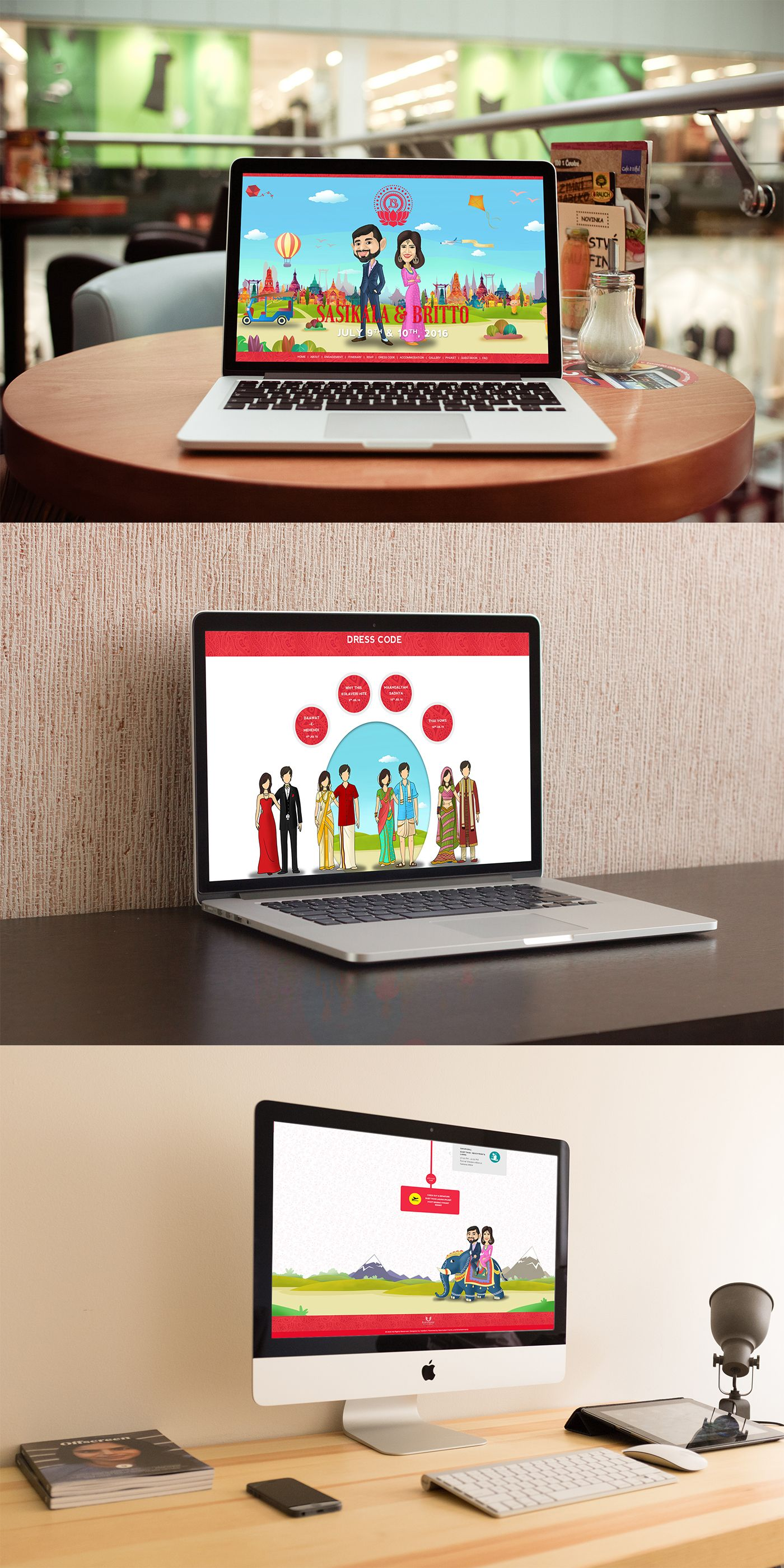"""Check out my @Behance project: """"Sasikala Britto Wedding Website"""" https://www.behance.net/gallery/41104701/Sasikala-Britto-Wedding-Website"""