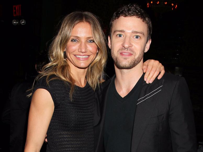 Slide 13 of 14: Pop star, Justin Timberlake met actress ...Cameron Diaz Age 2003