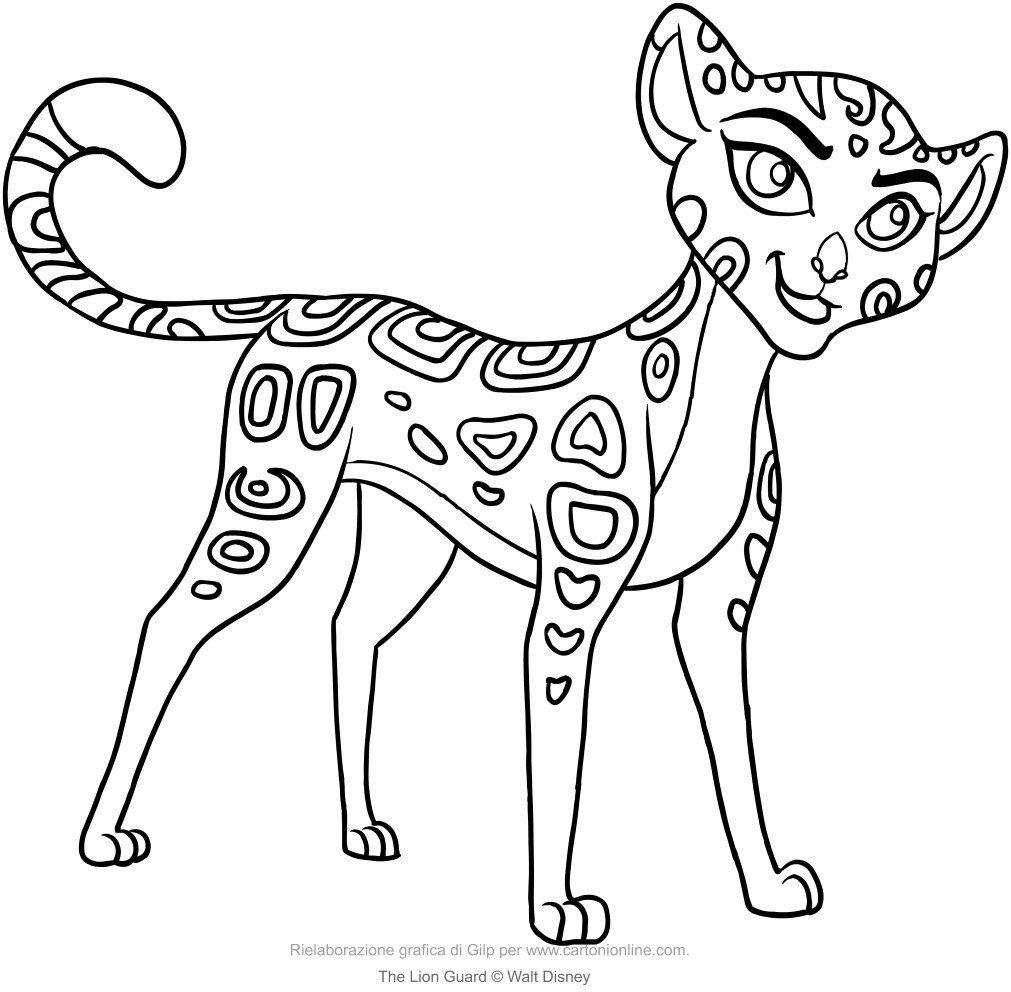 Lion Guard Coloring Page Luxury Fuli The Lion Guard Coloring Page Lion Coloring Pages Family Coloring Pages Animal Coloring Pages