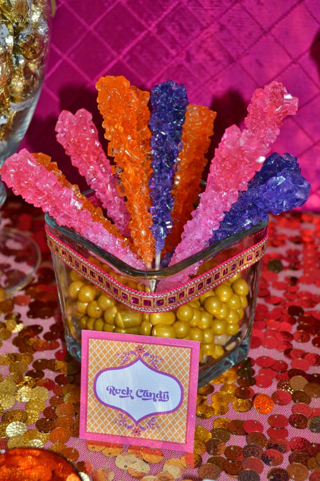 Fun candy decorations for an arabian nights or moroccan for Arabian party decoration ideas