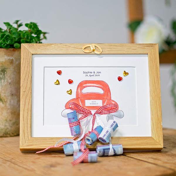 Photo of Dinero de regalo de boda: creativo empaquetado en un marco de imagen