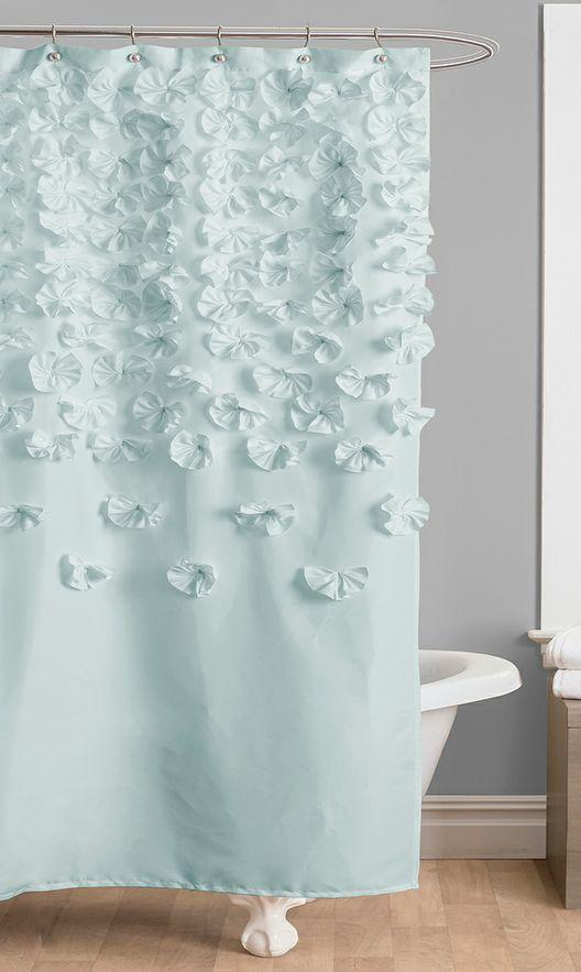 Blue Lucia Shower Curtain