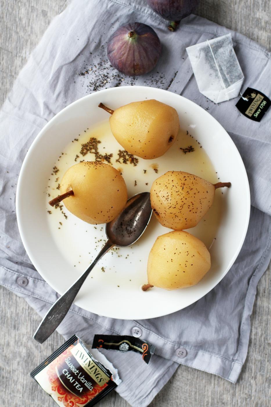 Vanilla Chai Tea Poached Pears