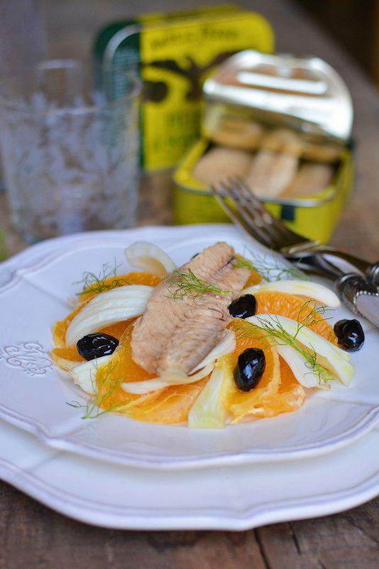 Insalata di arance con finocchi, sgombro ed olive   Farina lievito e fantasia