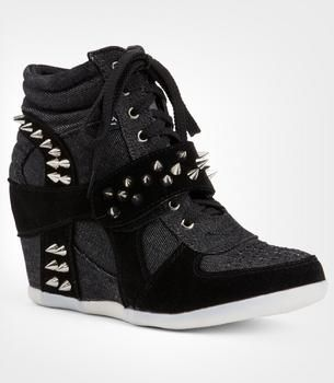 11bb57659 I found 'Spike High Top Hidden Wedge Sneakers Shoes Heel Women Cute Stud  Studded' on Wish, check it out!