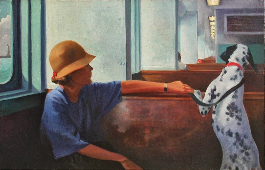 Nigel van Wieck (1949-) > Ferry | Oil on panel