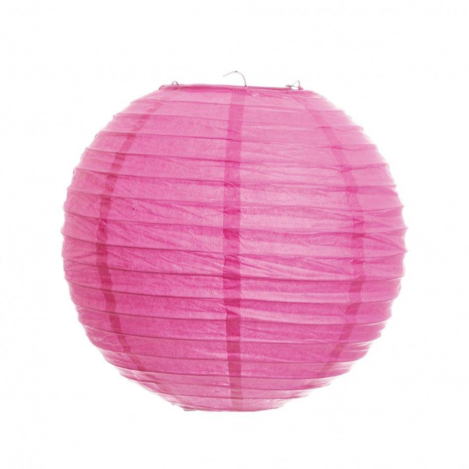 14 Round Paper Lanterns - Dark Pink [402185 Cherry Blossom Pink ...