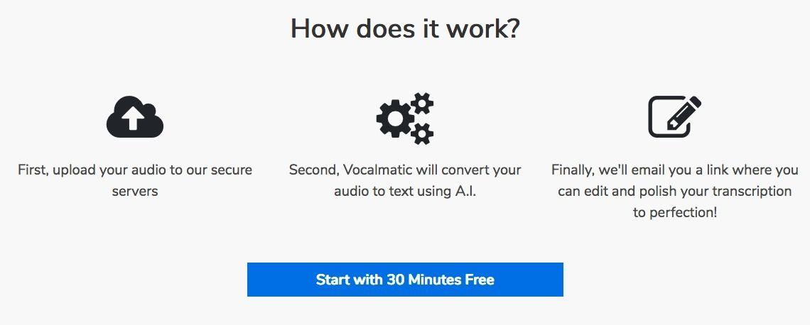 Transcribe audio to text automatically Thinking skills