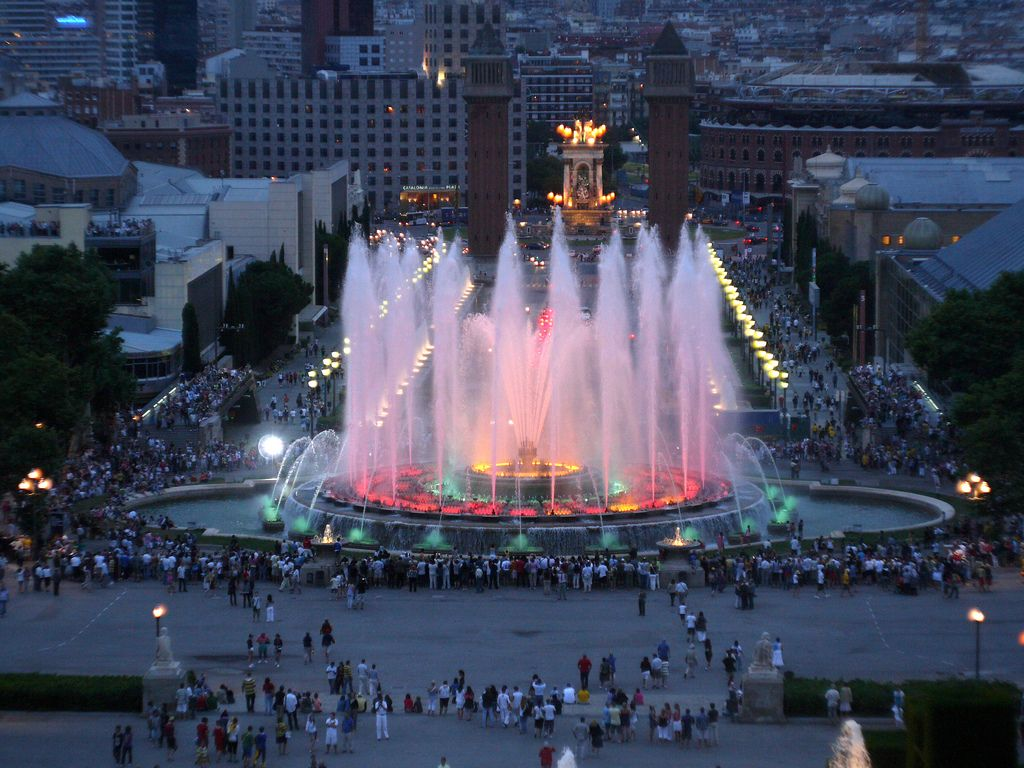 Image result for Magic Fountain of Montjuic, Barcelona, Spain