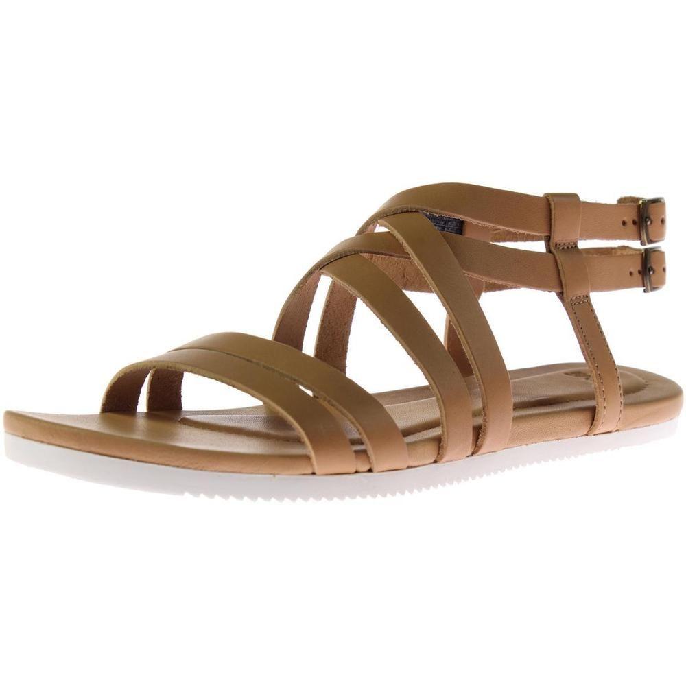 4d5cf3f92550 Teva 3591 Womens Avalina Tan Leather Gladiator Sandals Shoes 8 Medium (B