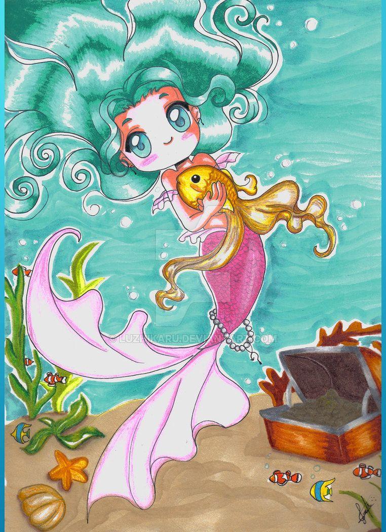 Mermaid chibi by luzhikaru on DeviantArt Chibi