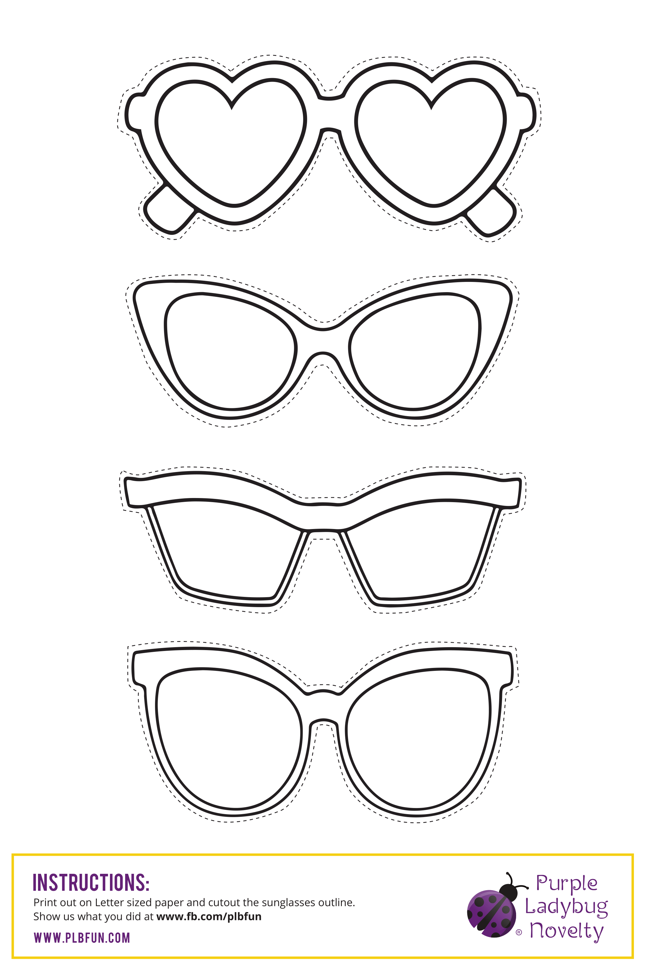 graphic regarding Printable Sunglasses identify Absolutely free PRINTABLE: Sun shades Working day Cost-free Printables for Little ones by way of