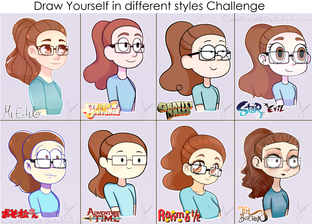 Draw yourself in different styles meme by carolina1358 dafvhlv png 1024x735