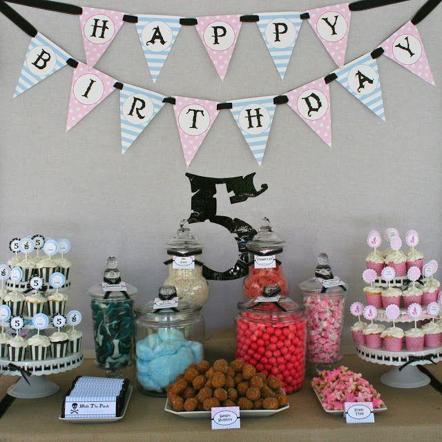 Fun Boy Girl Idea Treasure Hunt Mermaid Happy Birthday Twin