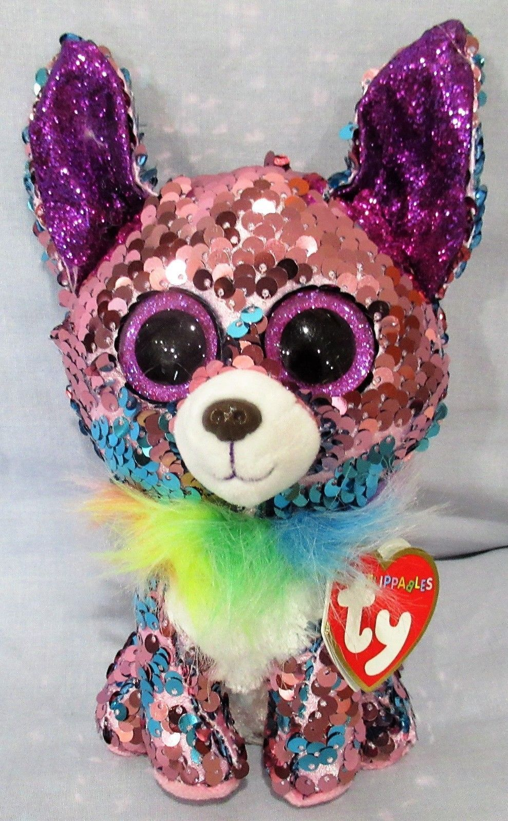 9851612be11 Current 438  Yappy - Chihuahua Dog - Ty Flippables Sequin Beanie 6 Boos -  New With Mint Tags -  BUY IT NOW ONLY   19.5 on  eBay  current  yappy   chihuahua ...