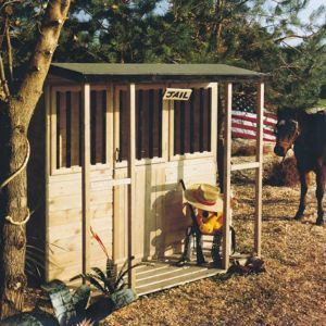 Shire 6X4 Jailhouse Playhouse with Assembly Service 6X4 Jailhouse Playhouse with Assembly Service.This Jailhouse 6x4 Playhouse is a great space for children to play. (Barcode EAN=5019804111701) http://www.MightGet.com/april-2017-1/shire-6x4-jailhouse-playhouse-with-assembly-service.asp